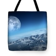 Earth Icy Ocean Aerial View Tote Bag
