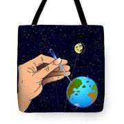 Earth Like An Inflatable Balloon Tote Bag