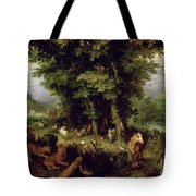 Earth Or The Earthly Paradise Tote Bag by Jan the Elder Brueghel