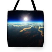 Earth Sunrise From Outer Space Tote Bag