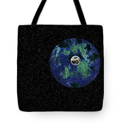 Earth To The Moon Tote Bag