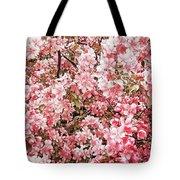 Earth Tones Apple Blossoms  Tote Bag