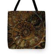 Earth Treasures - Brown Amonite Tote Bag