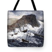 Earthquake And Tidal Wave Tote Bag