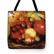 Earthtone Fruit Fresco Tote Bag