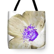 Earthy Brown And Purple Poppy Tote Bag