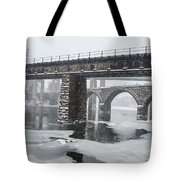 East Falls - The Frozen Schuylkill River Tote Bag
