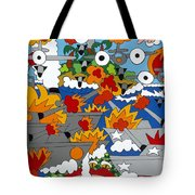 East Meets West Tote Bag by Rojax Art