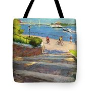 East River From Carl Schurz Park Tote Bag