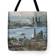 East River From Shelton Hotel Tote Bag