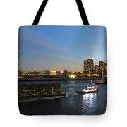 East River Traffic New York Tote Bag