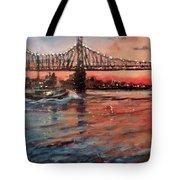 East River Tugboats Tote Bag