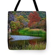 East Trail Pond At Lost Maples Tote Bag