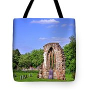 East Window Remains Of Old Church At Ticknall Tote Bag