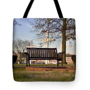 Easter Bench Tote Bag