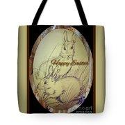 Easter Bunny  Greeting 5 Tote Bag