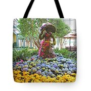 Easter Bunny Topiary Tote Bag