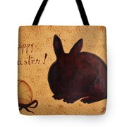 Easter Golden Egg And Chocolate Bunny Tote Bag
