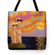 Easter Island Sunset Tote Bag