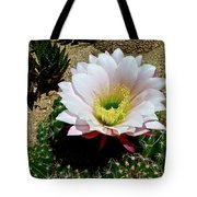 Easter Lily Cactus Tote Bag