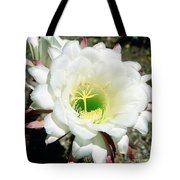 Easter Lily Cactus Flower Tote Bag
