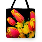 Easter Tulips And Roses Tote Bag