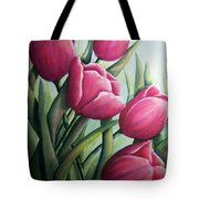 Easter Tulips Tote Bag