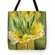 Easter Tulips Tote Bag by Maria Langgle