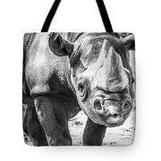 Eastern Black Rhinoceros Tote Bag