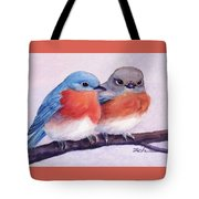 Eastern Bluebirds Tote Bag