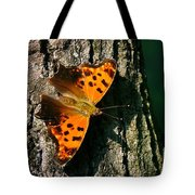 Eastern Comma Butterfly Tote Bag