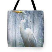 Eastern Great Egret Ardea Alba Modesta Tote Bag