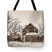 Eastern Montana Farmhouse Sepia Tote Bag