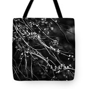 Eastern Redbud In Black And White Tote Bag