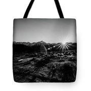 Eastern Sierra Sunset In Monochrome Tote Bag