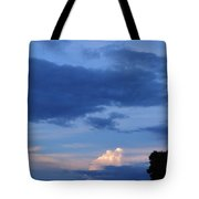 Eastern Sunset Over Hidden Lakes Tote Bag