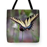 Eastern Tiger Swallowtail Butterfly In Garden 2016 Tote Bag
