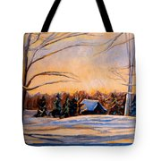 Eastern Townships In Winter Tote Bag