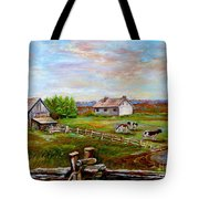 Eastern Townships Quebec Country Scene Tote Bag