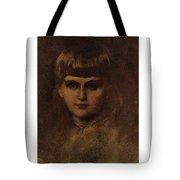 Eastman Johnson 1824-1906 Young Girl Tote Bag