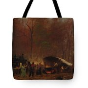 Eastman Johnson - A Different Sugaring Off - Circa 1865 Tote Bag