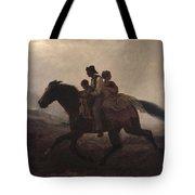 Eastman Johnson - A Ride For Liberty--the Fugitive Slaves 1862 Tote Bag