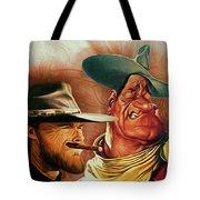 Eastwood And Wayne Tote Bag