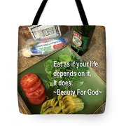 Eat Tote Bag by Beauty For God