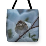 Eating Snow Tote Bag