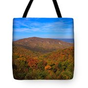 Eaton Hollow Overlook On Skyline Drive In Shenandoah National Park Tote Bag