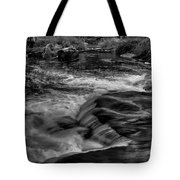 Eau Claire Dells Black And White Flow Tote Bag