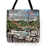 Eau Gallie Seascape Painting Tote Bag