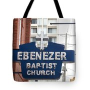 Ebenezer Baptist Church Tote Bag by Kevin Croitz