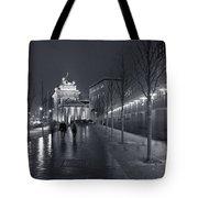 Ebertstrasse And The Brandenburg Gate Tote Bag